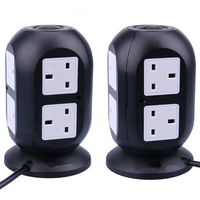 British Standard 4 USB Table Hub Smart Socket Eight Hole ABS + PC Fireproof Material