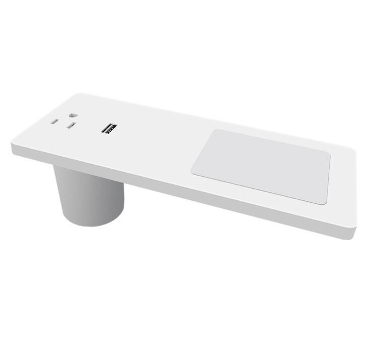 ABS + PC Conference Table Socket , Desktop Wireless Transmitter Smart Furniture Office Mobile Phone Charger